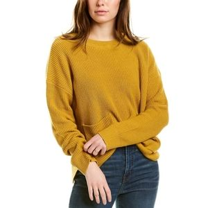 Madewell Patch Pocket Sweater in Deep Mustard